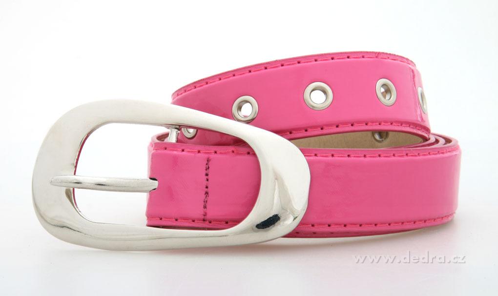 DA3119-Dámsky opasok ružový lesklý dĺžka: 125 cm