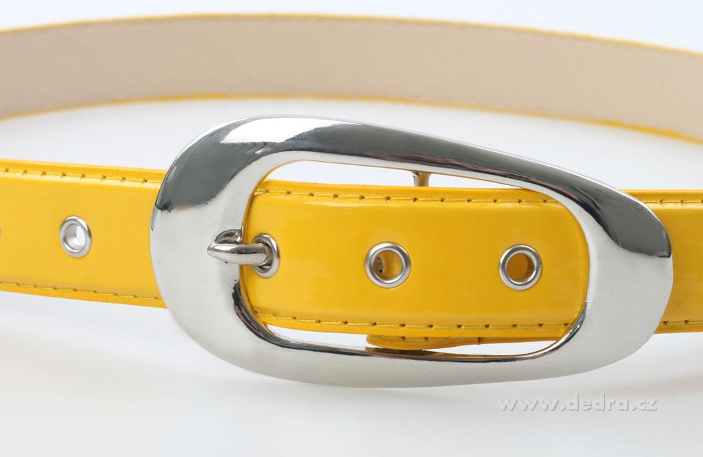 Dámský pásek žlutý lesklý délka: 125 cm