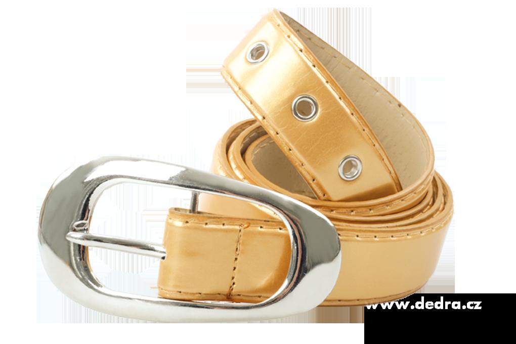 Dámský pásek zlatý lesklý délka: 125 cm