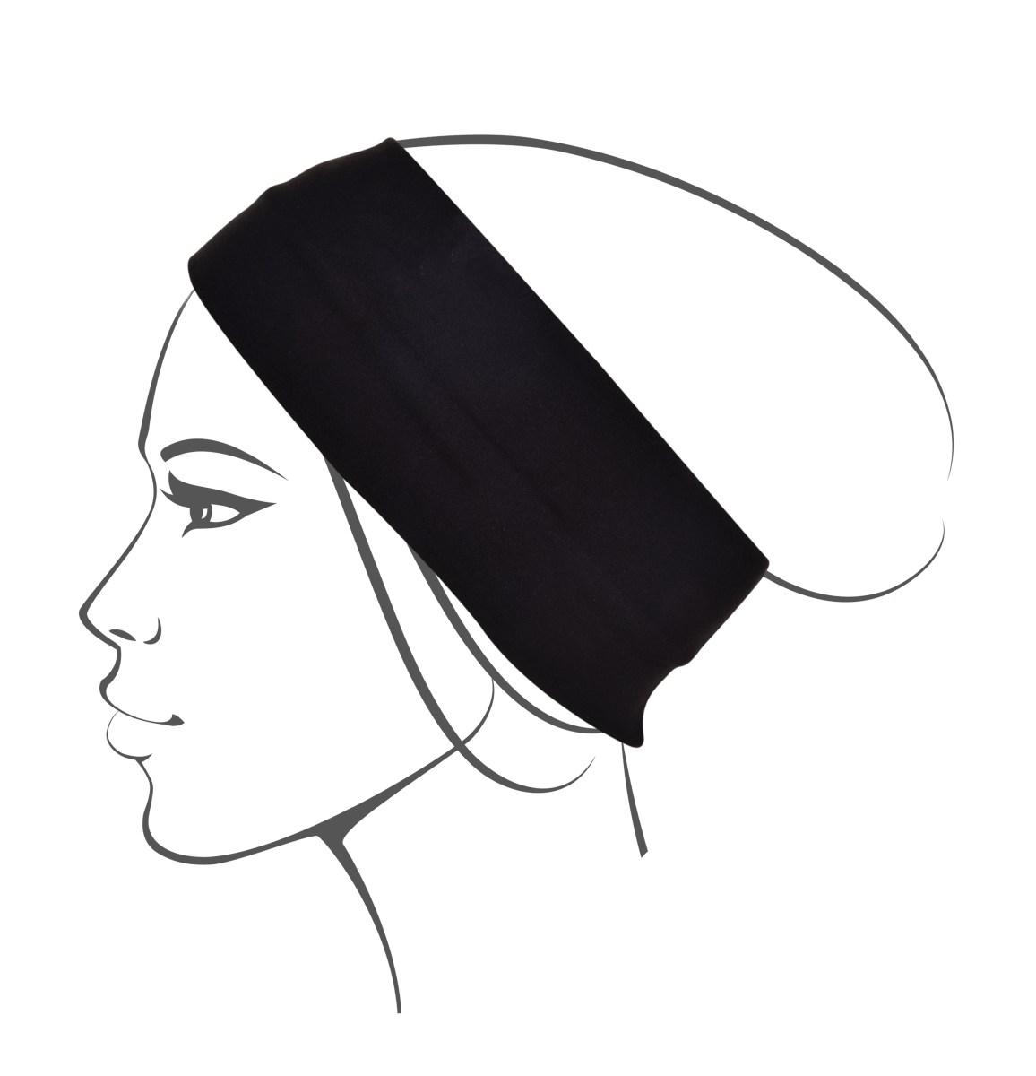 Textilní čelenka, polyester,černá