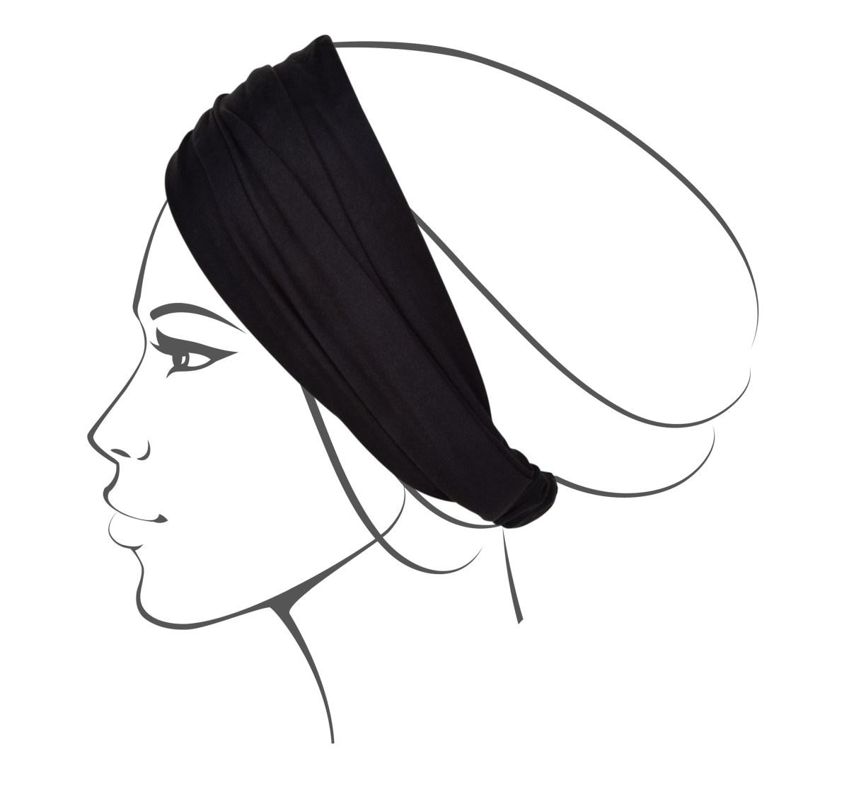 Vrstvená textilní čelenka