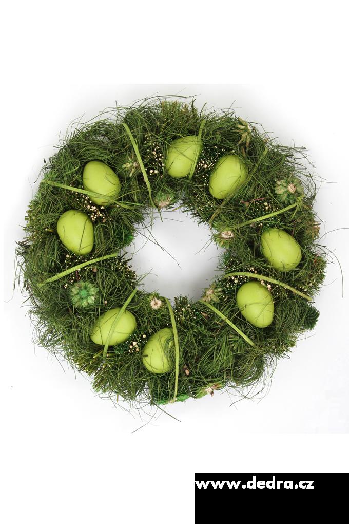 Dekorativní, velikonoční věnec