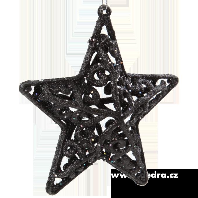 DA5863-3 ks veľké trblietavé hviezdy krajkového vzhľadu 11 cm