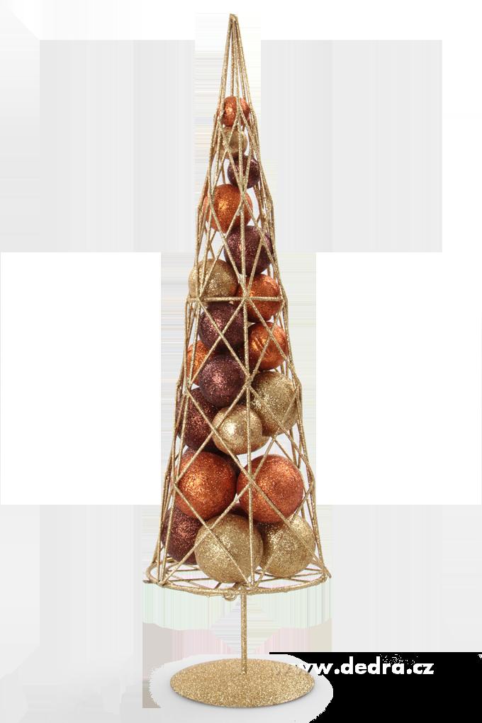 Moderní stromek s třpytiv.kouličkami kovová konstrukce