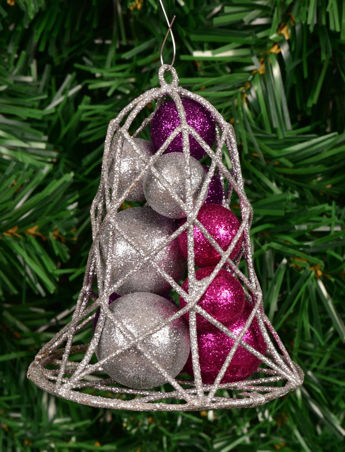 Velký vánoční zvonek, s třpytiv.kouličkami