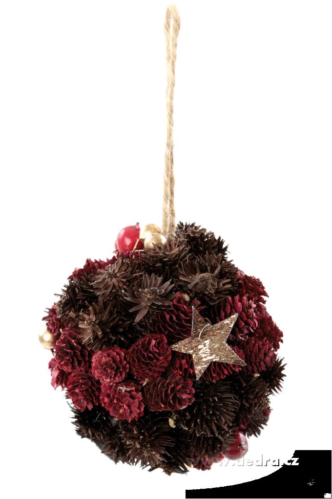 Závěsná dekorativní, koule ze šišek
