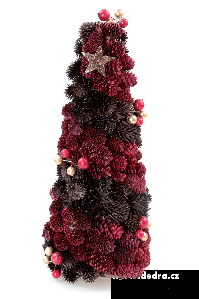 35 cm dekorativní stromek, ze šišek a lesních plodů