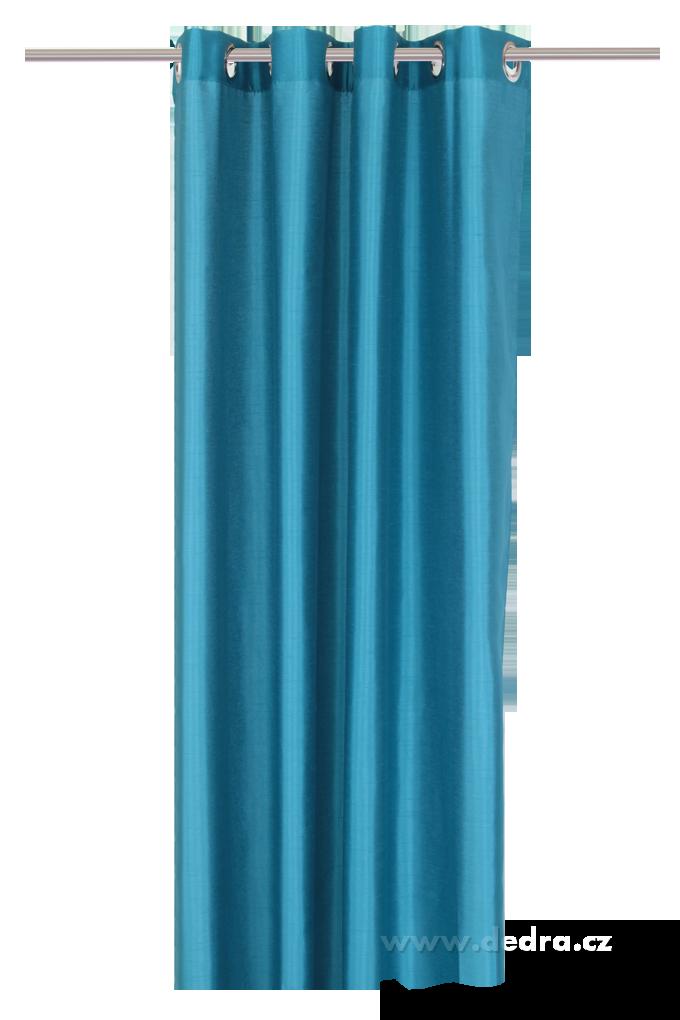 Závěs z pevné neprůhledné tkaniny, azurový