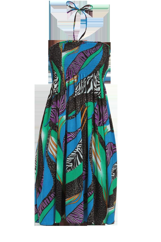 99e6124b0e5 MARION modro-zelené šaty - Vaše DEDRA - oficiální stránky