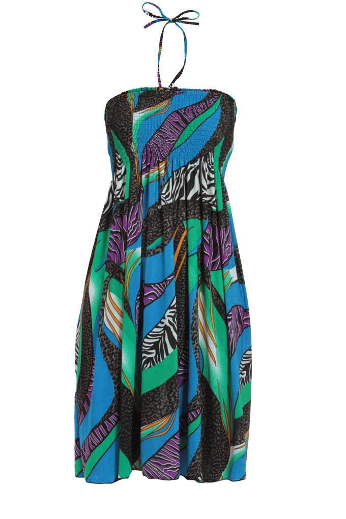 MARION, modro-zelené šaty