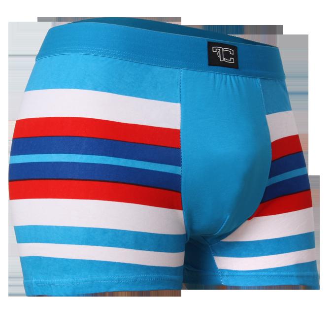 Boxerky, modro/červené
