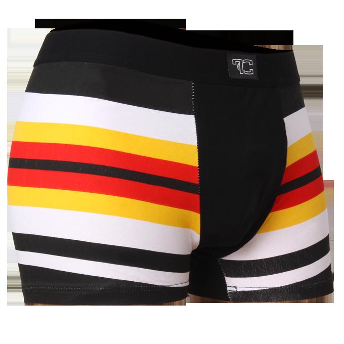 Boxerky, černo/žluto/červené