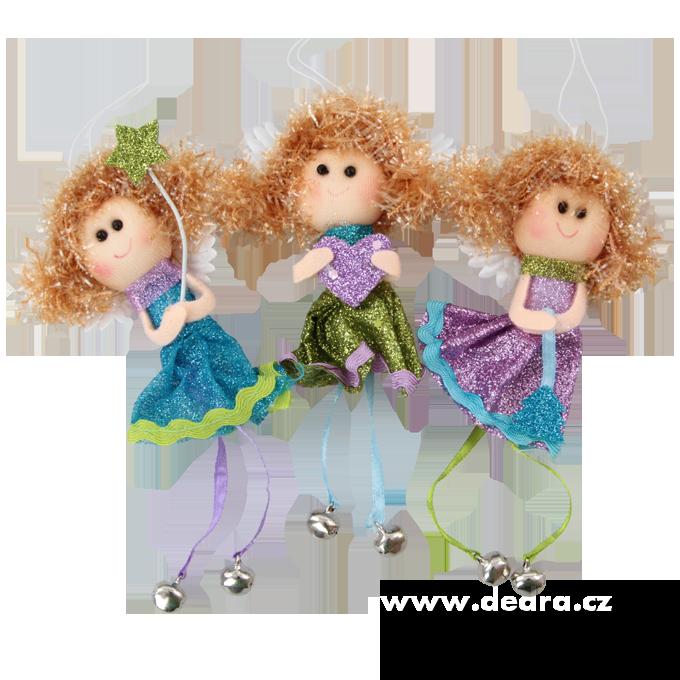3 andělské holčičky, s rolničkami