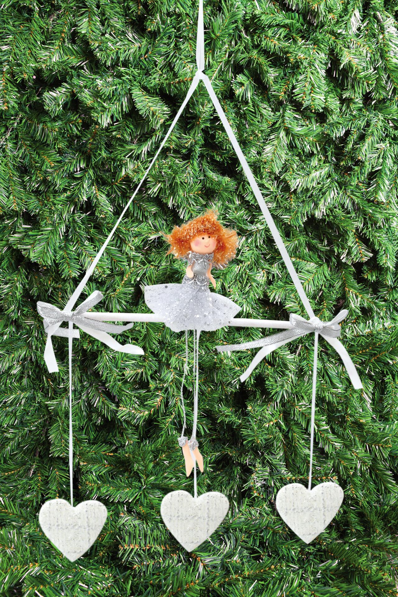 60 cm andělská holčička na houpačce. závěsná prostorová dekorace