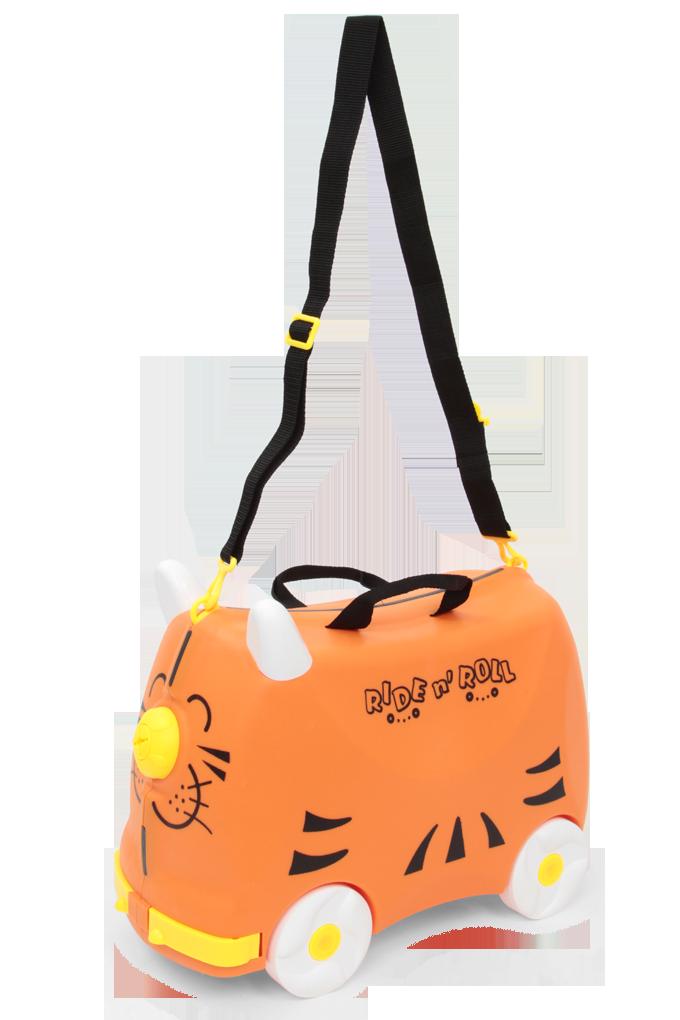 Veselý auto-kufr pro děti oranžový cestovní zavazadlo