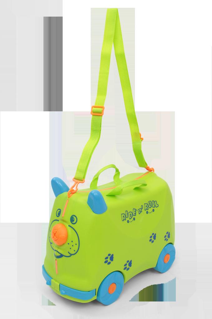Veselý auto-kufr, pro děti zelený