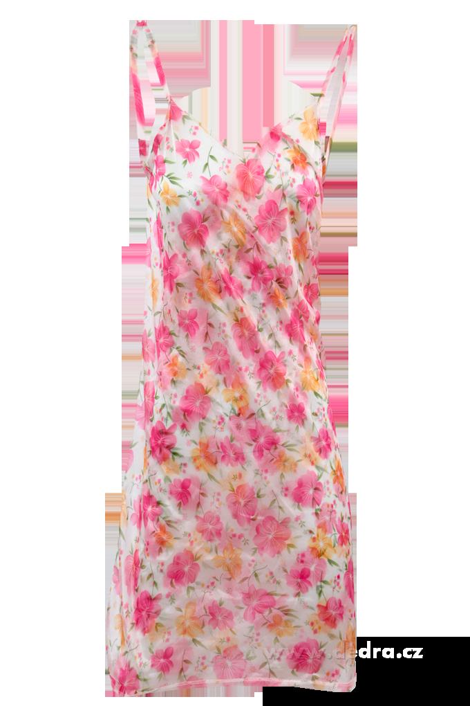 PAREONCCINI s růžovými květy zavinovací šaty