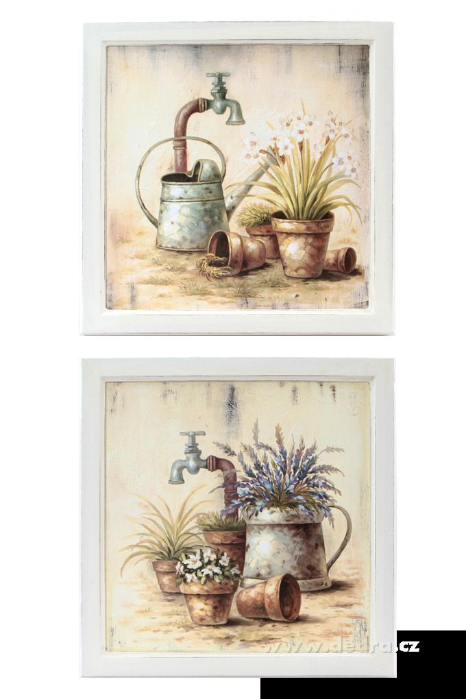 Zahradní zátišísada 2 ks obrazů