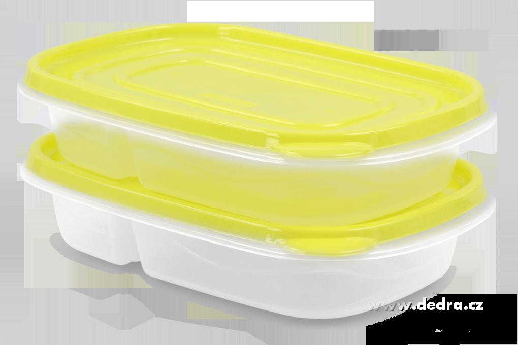 2ks DUO BOX 557+330 ml žlutozelený