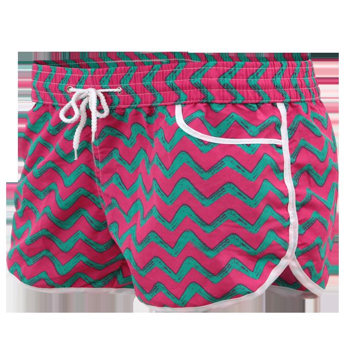 NICOLE dámské šortky růžovo-zelené velikost M