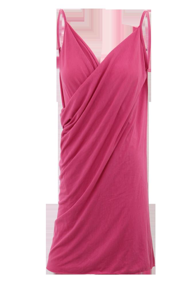 PAREONCCINI růžové zavinovací šaty