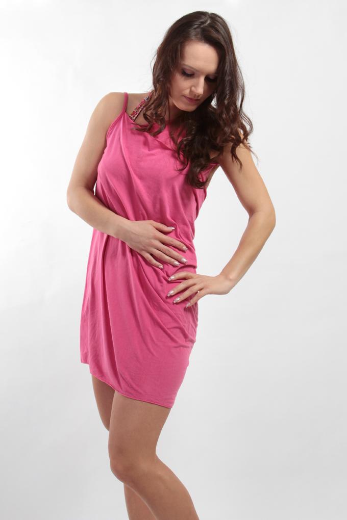 FC75441-PAREONCCINI ružové zavinovacie šaty