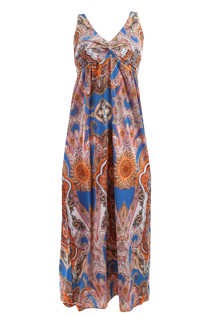 LACEY dlouhé šaty indický motiv velikost L