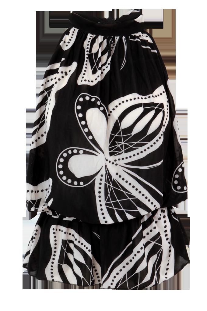 SABELIA tunika/top černobílý motiv velikost L