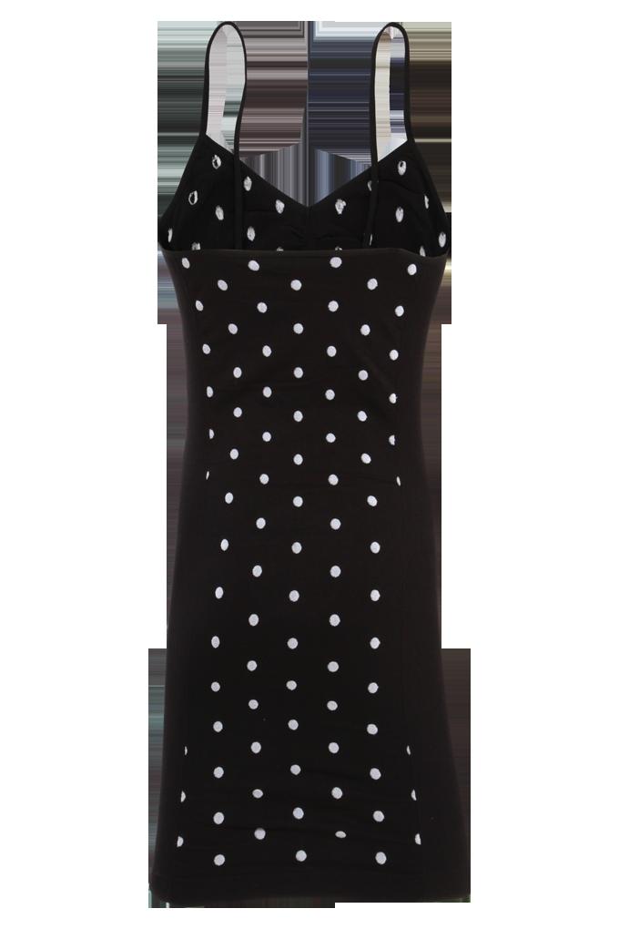 FC75941-Saleen čierne ramienkové mini šaty