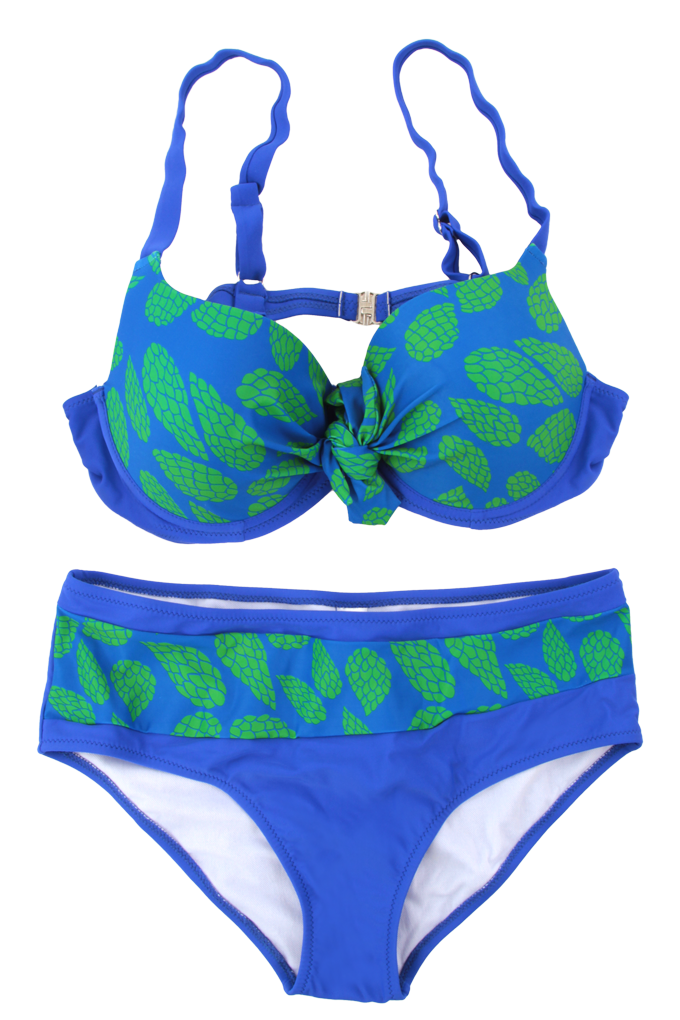 KADELYN dvoudílné plavky modro-zelené vel. 1