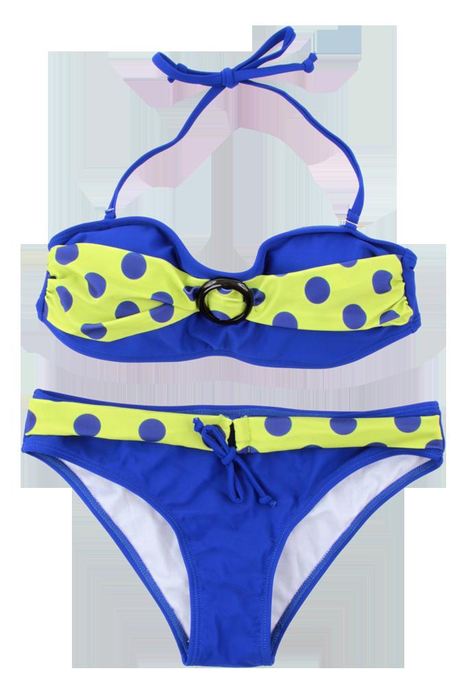 SABI dvoudílné plavky modro-žluté vel. 1