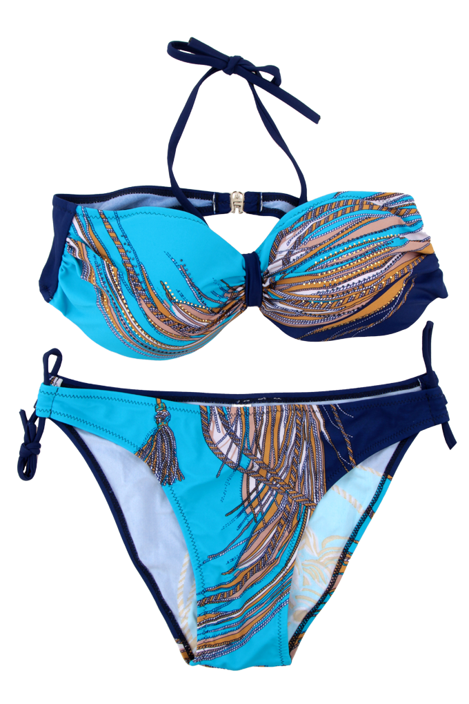 KACY dvoudílné plavky modro/tyrkysové vel.1