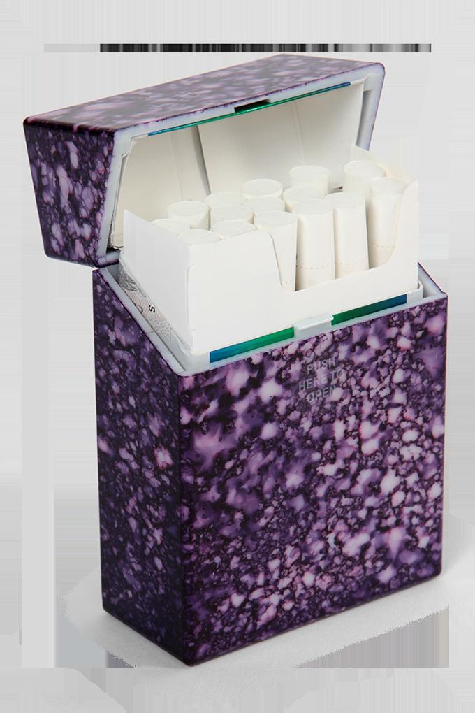 DA78653-Puzdro na cigarety fialový mramor