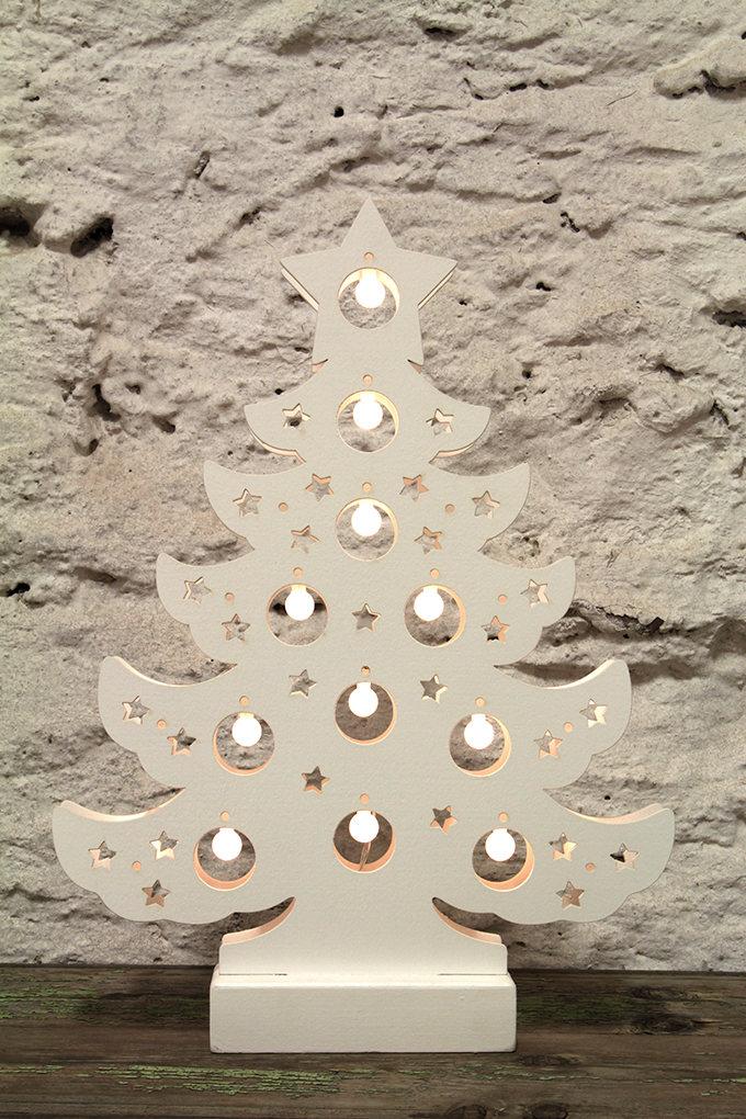Svítící vánoční stromek s 11 LED zárovičkami