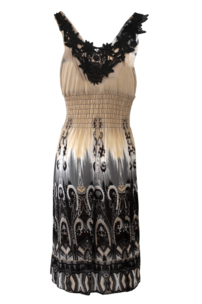 DAISY šaty, s krajkovou vsadkou   velikost S