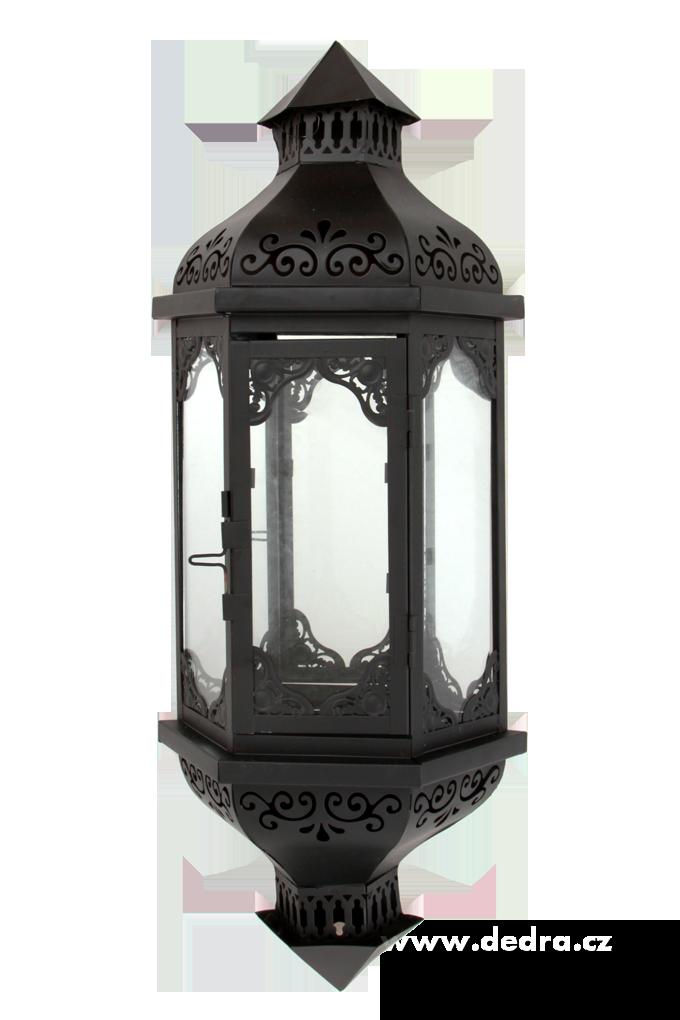 Velká nástěnná, kovová lucerna
