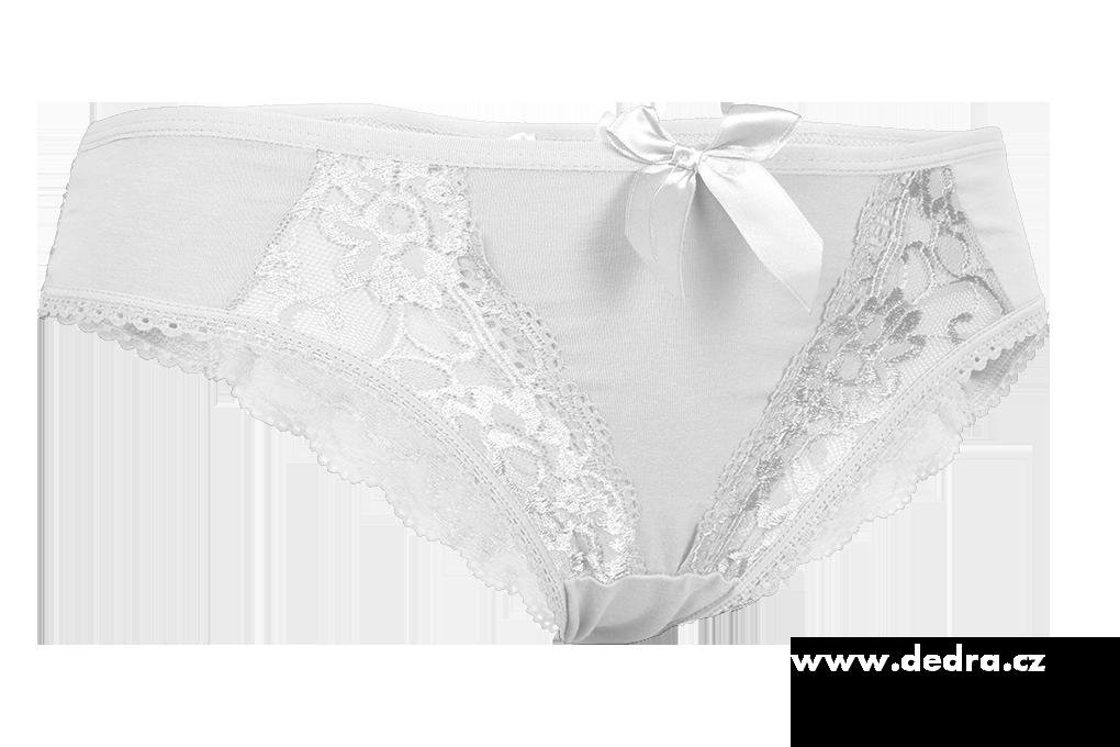 Kalhotky BRAZILKY bílé  1 (vel. S)