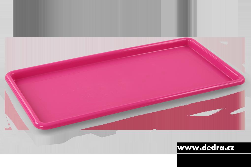 Obdélníkový megatác z odolného plastu růžový