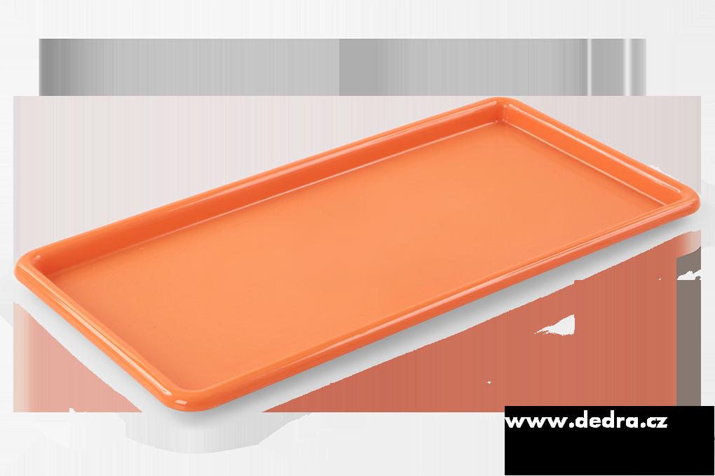 Obdélníkový megatác z odolného plastu oranžový
