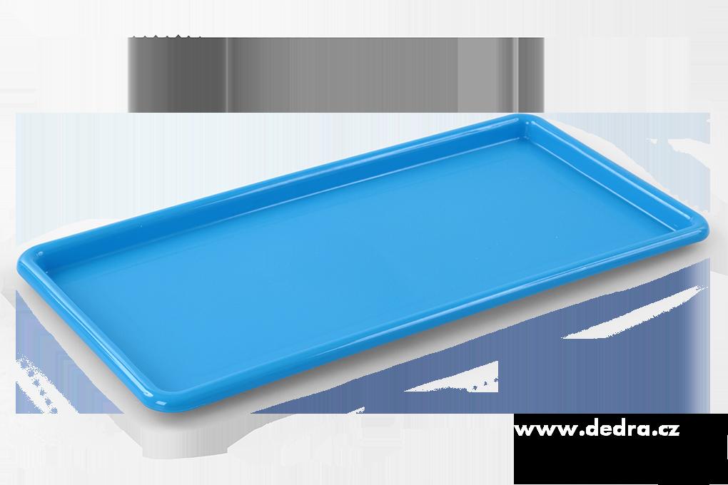 Obdélníkový megatác z odolného plastu modrý