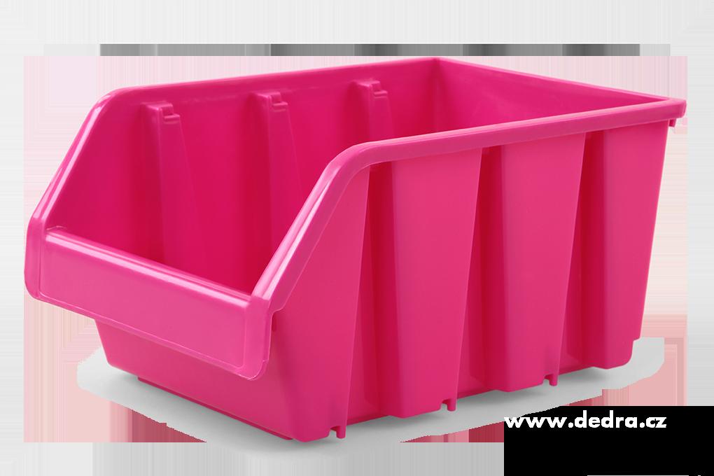 Štosátor úložný box stohovatelný růžový