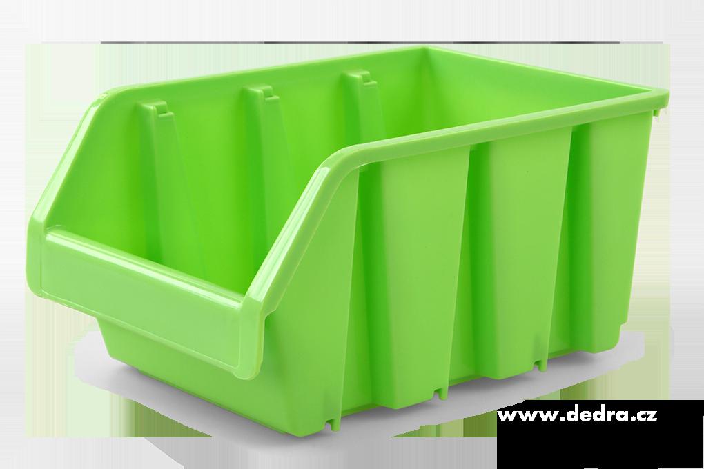 Štosátor úložný box stohovatelný zelený
