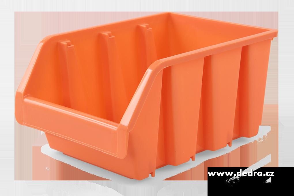 Štosátor úložný box stohovatelný oranž.