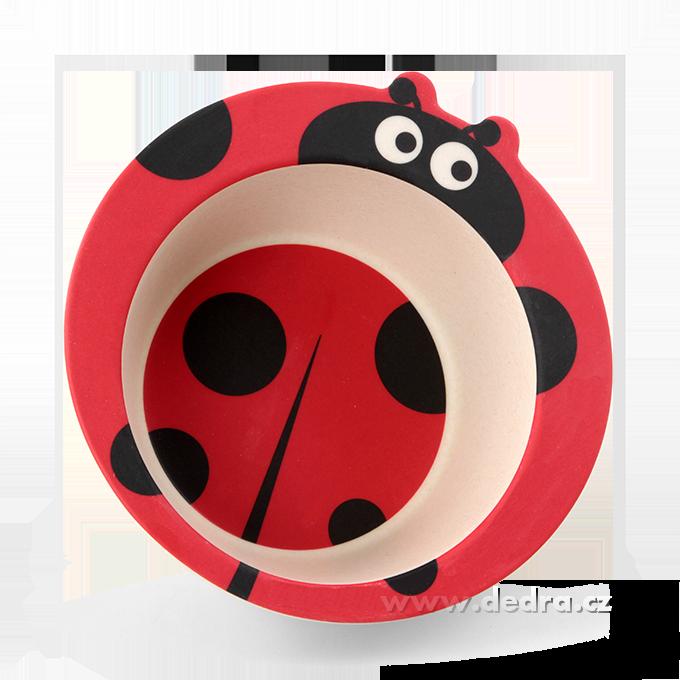 5 dílná jídelní sada pro děti - ladybird GoEco Bamboo sada