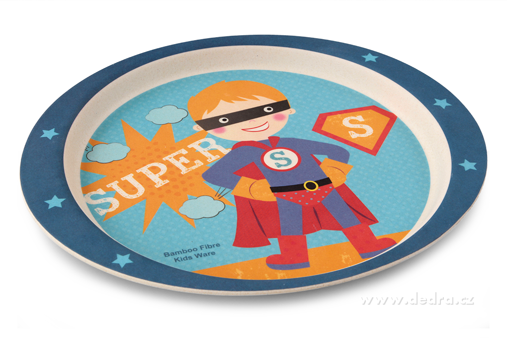 DA84314-3 dielna jedálenská súprava pre deti - super boy GoEco Bamboo sada