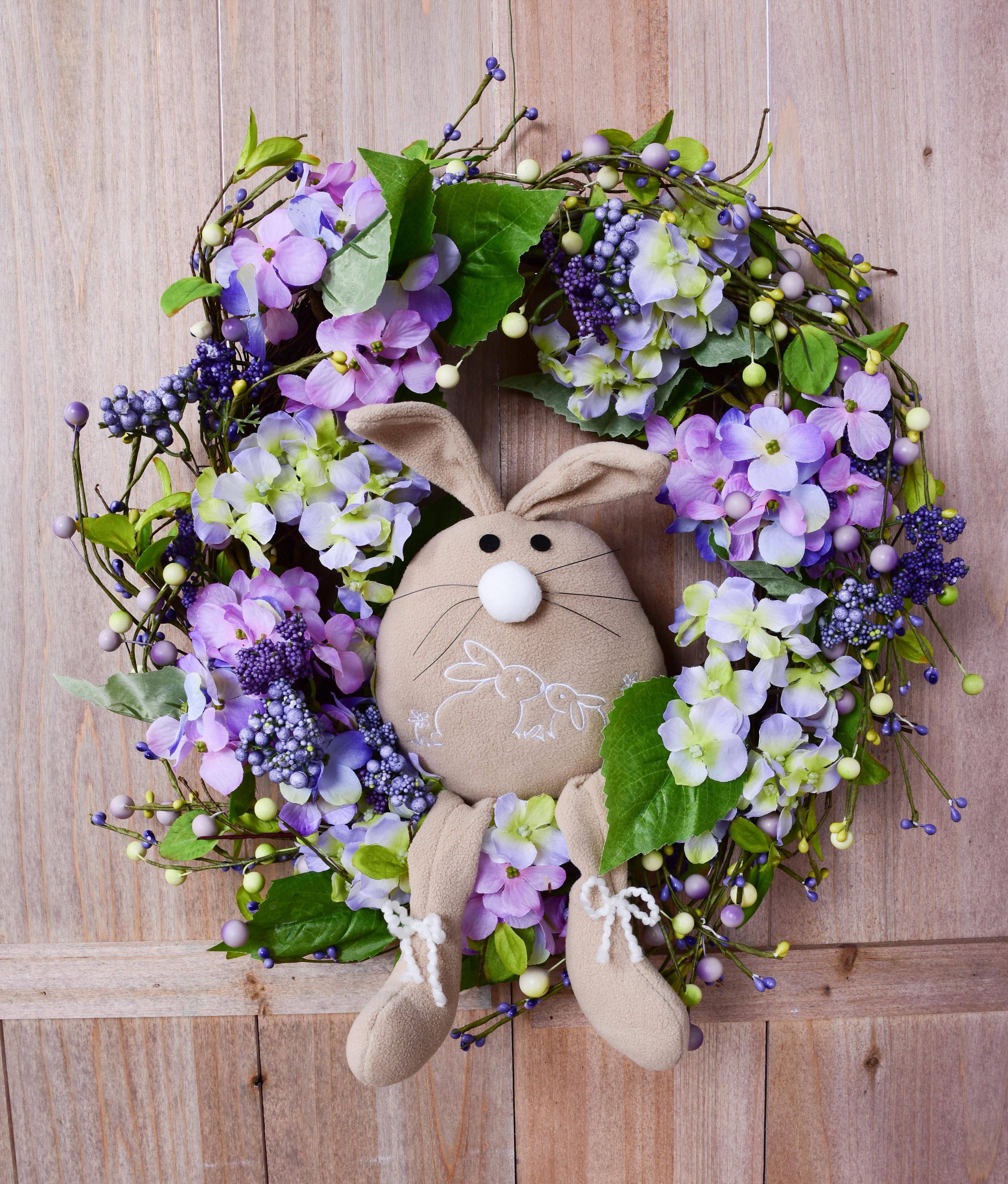 45 cm dekorativní květinový věnec, velký