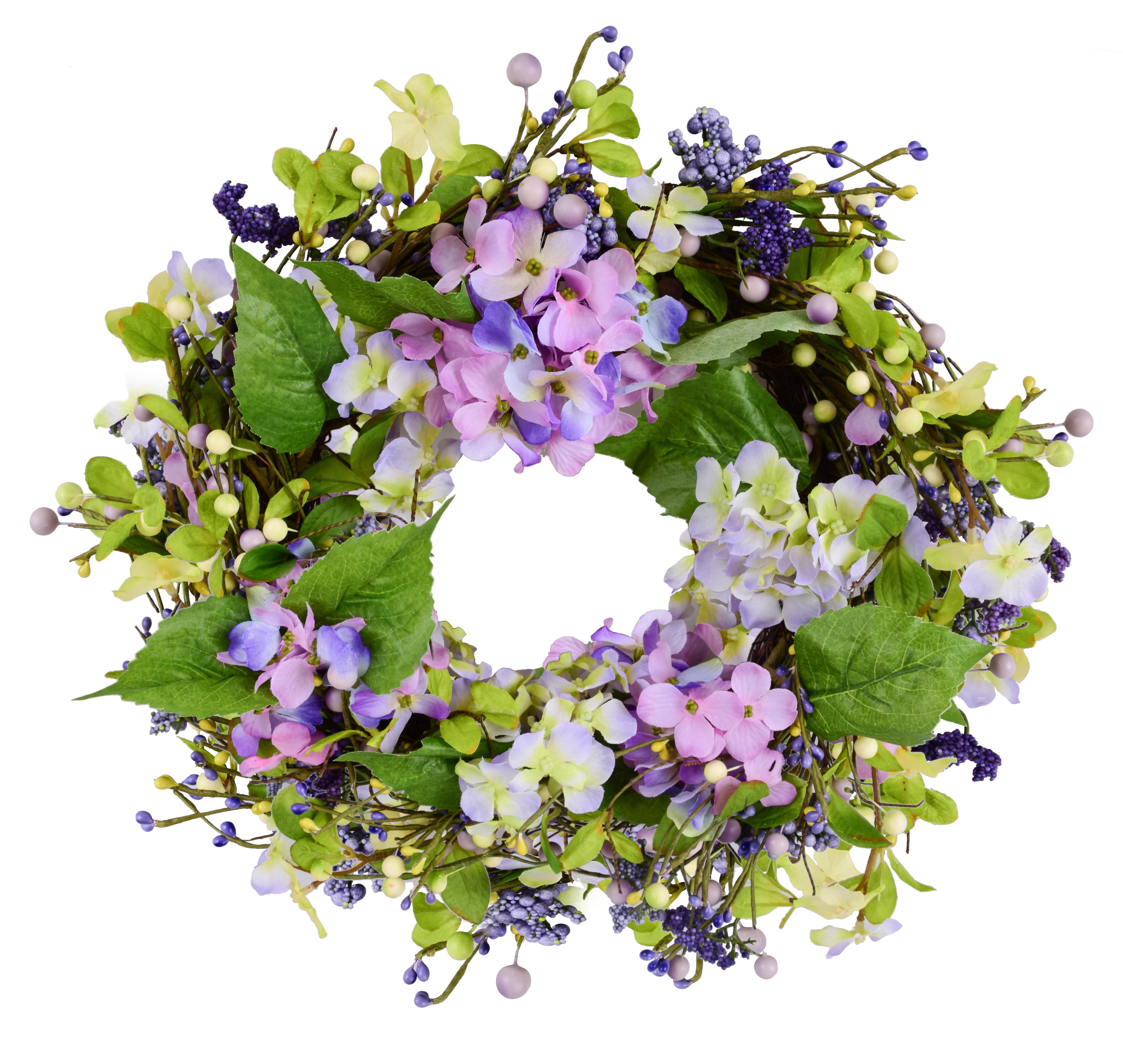 XL dekorativní věnec květinový