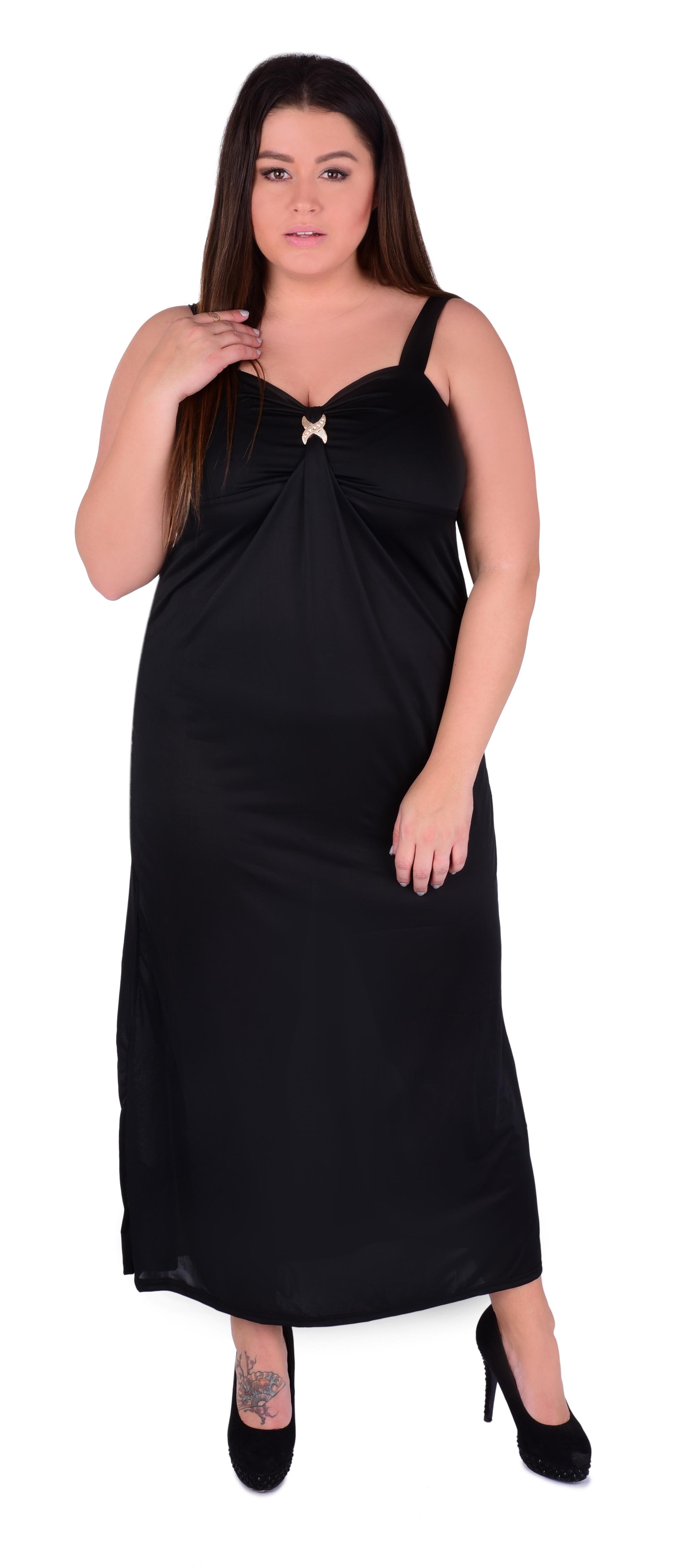 DAPHNE dlouhé šaty černé