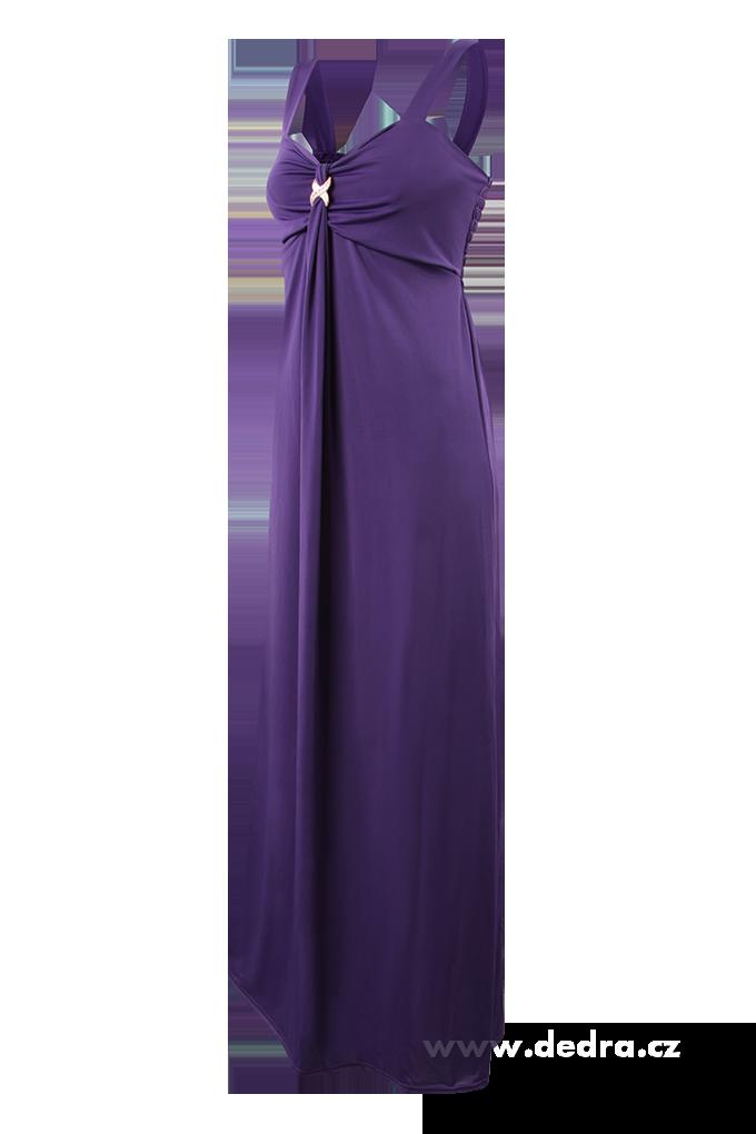 DAPHNE dlouhé šaty fialové