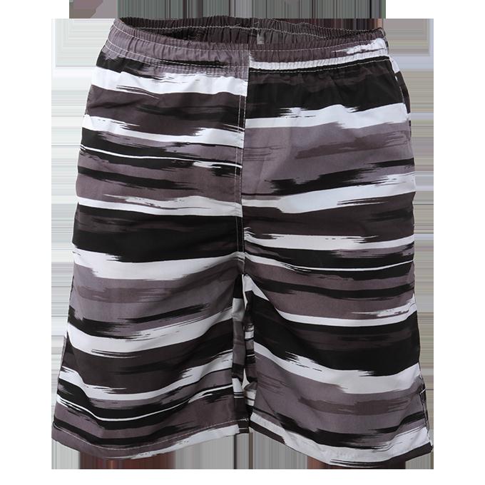 BRANDON bermudy pánské letní rychleschnoucí černo-šedé L